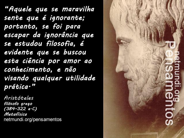 Aristóteles, o estagirita, filósofo grego discípulo de platão.